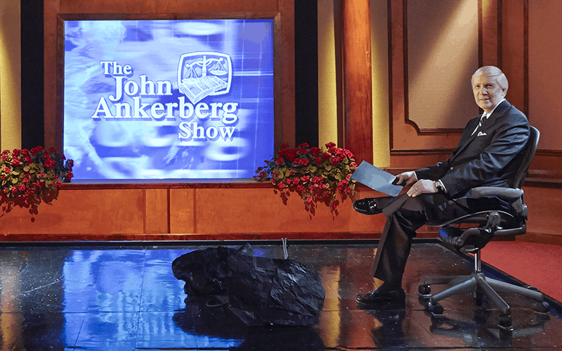 john ankerberg on the show set